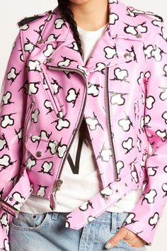i love this jeremy scott jacket because of the cut and the pattern on it