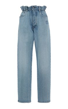 Straight Leg Paper-Bag Waist Jeans by Miu Miu Kpop Outfits, Grunge Outfits, Casual Outfits, Cute Outfits, Fashion Outfits, Fashion Ideas, Looks Style, My Style, Estilo Indie