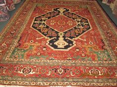 #43: 8 x 10 Heriz rug. Antique design, new rug. Great wool and beautiful colors!