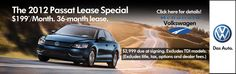 The 2012 VW Passat Lease Special! Available through May 31, 2012 Only at McDonald Volkswagen in Littleton!