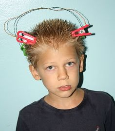 Wacky hair day, Go To www.likegossip.com to get more Gossip News!