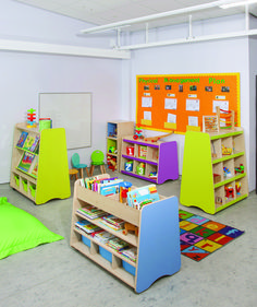 Trudy Classroom Furniture. Book Storage And Display For Schools.