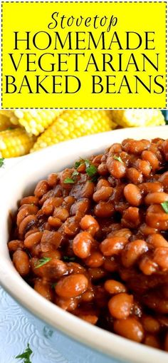 Stovetop Homemade Vegetarian Baked Beans - Lord Byron's Kitchen Who says Homema. Stovetop Homemade Vegetarian Baked Beans – Lord Byron's Kitchen Who says Homemade Baked Beans Baked Beans Recipe Vegan, Baked Beans Salad, Healthy Baked Beans, Baked Beans Crock Pot, Easy Baked Beans, Homemade Baked Beans, Beans In Crockpot, Bbq Beans, Baked Bean Recipes