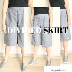 The divided skirt - the name itself doesnot give any doubt as to what it is - a flared skirt which is divided, making it one part skirt and one part trousers. It was the attire of choice of those equestrian Englishwomen of old times who wanted to ride astride without looking mannish in a man's trousers.After reading