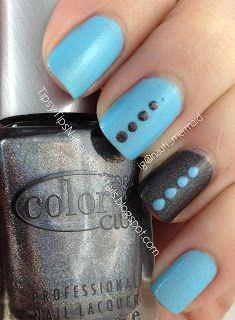 POLISH ME TO GO I'm So Blue [Pastel Matte Glow Polish]; COLOR CLUB Beyond [Spring 2013 Halo Hues Collex]  TpisyTipsNailsandCocktails.blogspot.com