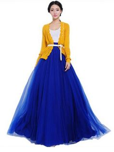 Bowknot Waist Chiffon Pleated Tiered Dress Long Maxi Skirt Gown