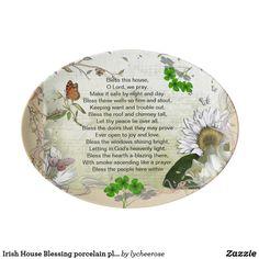 Irish House Blessing porcelain platter