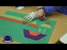 Hexagons! Quilting Quickly- Fonds and Porter,60° Pyramid Ruler, YouTube