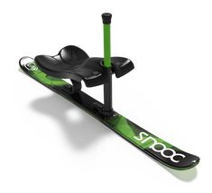 Snooc is a winter sport equipment that allows everyone to go hiking in the backcountry on touring skis and ride down powder snow sitting on one ski. Luge, Snowboarding, Skiing, Snow Sled, Ski Decor, Go Hiking, Winter Activities, Go Kart, Skateboards