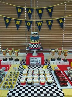 Formula One Baby Shower Party Ideas | Photo 5 of 15 | Catch My Party