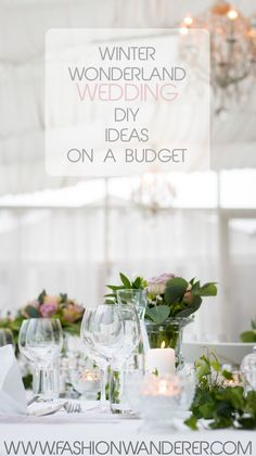 Winter Wonderland Wedding DIY On A Budget #wedding #DIY