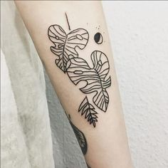 Image result for palm leaf black tattoo