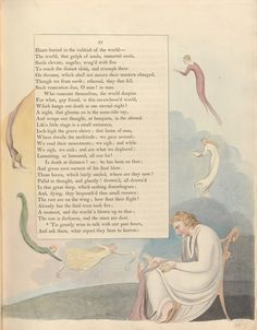 Night Thoughts of William Blake - 50 Watts William Blake, Huntington Library, English Poets, Color Copies, Poetry Quotes, English Language, Great Artists, Nonfiction, Book Art