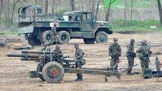 Corea del sur realizando ejercicios de paz.