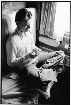 David Bowieon the train to Moscow, photo byAndrew Kent, 1976