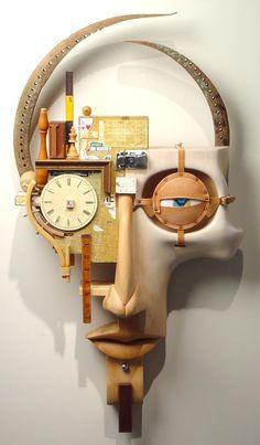 John Morris Sculptor added a new photo. Sculpture Projects, Art Sculpture, Abstract Sculpture, Found Object Art, Found Art, Wooden Art, Wood Wall Art, Assemblage Art, Recycled Art