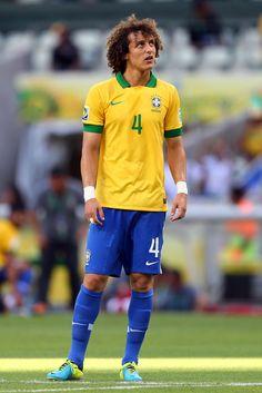 David Luiz. Brazil national team. Confederations cup.