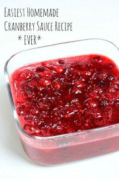Easiest Homemade Cranberry Sauce Recipe Ever - RecipeGirl.com