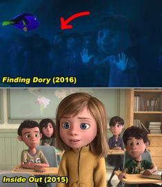 In Finding Dory, Riley from Inside Out can be see through the glass at the Marine Life Institute during a school field trip. Inside Out Riley, Jeremiah 11, Foxy Wallpaper, Audition Songs, Small Movie, Disney Fun Facts, Tyler Durden, Baby Driver, Toy Story 3