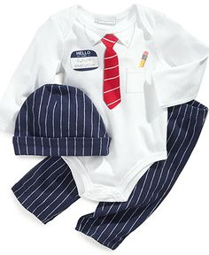 First Impressions Baby Set, Baby Boys 3-Piece Set - Kids Baby Boy (0-24 months) - Macy's