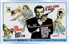James Bond - From Russia With Love - Sean Connery - Fridge Magnet D @ niftywarehouse.com #NiftyWarehouse #Geek #Fun #Entertainment #Products