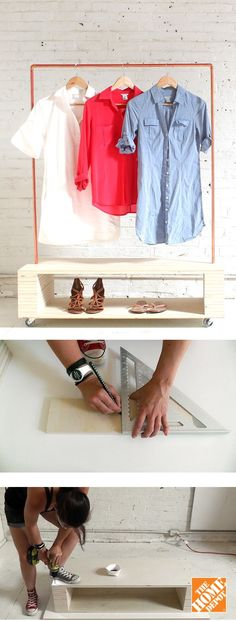 This rolling garment rack is just as attractive as it is practical. Just follow the step-by-step instructions in this pipe project tutorial to create your own rolling garment rack.