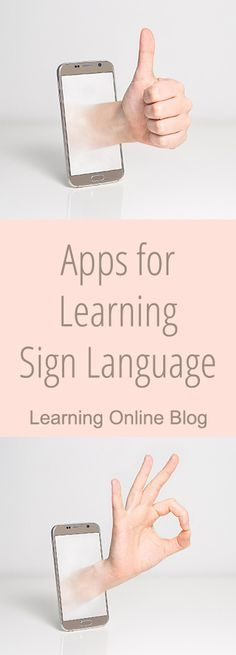 Are you or one of your kids learning sign language? Check out these helpful apps. Sign Language Apps, Sign Language Basics, Sign Language For Kids, Sign Language Interpreter, British Sign Language, Second Language, Language Lessons, Language Activities, Therapy Activities