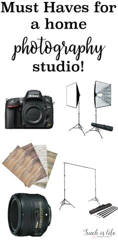 Must haves when starting a in home studio. An awesome list of must have photography studio.