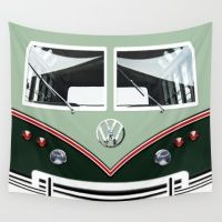 VW Volkswagen Minibus Wall Tapestry