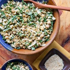 Mediterranean Freekeh Salad with Collard Greens and Chickpeas Recipes from The Kitchn