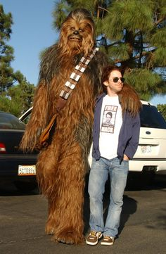 Seth Green chillin' with Chewbacca