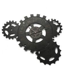 horloge murale engrenage noire 71 x 51 cm plus d 39 infos horloge design design pas cher et. Black Bedroom Furniture Sets. Home Design Ideas