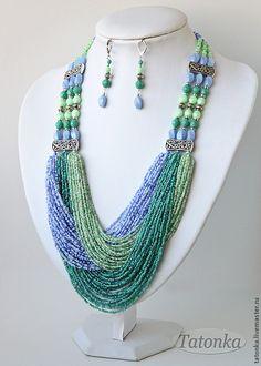 """Garden after the Monsoon"" massive necklace and earrings, Tatonka, Tatiana"