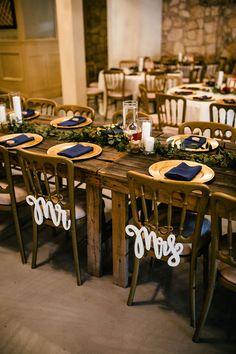 Classic Wedding CFEC Decor: Tall Vases with Pillar Candles, Gold Mercury Votive, Gold Charger, Navy Napkins P. Nicole Ryan, Gold Chargers, Tall Vases, Twinkle Lights, Pillar Candles, Mercury, Wedding Styles, Wedding Venues, Napkins