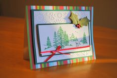 Green Trees Christmas card