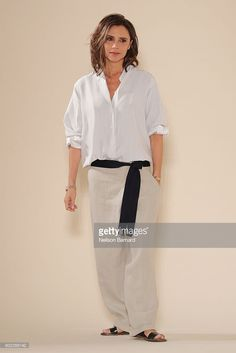 Designer Victoria Beckham walks the runway at the Victoria Beckham Spring/Summer 2017 fashion show during New York Fashion Week on September 11, 2016 in New York City.  (Photo by Neilson Barnard/Getty Images)