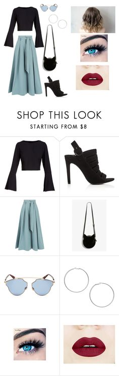 """Carmen's outfit."" by carmeeenn0022 ❤ liked on Polyvore featuring Kendall + Kylie, Temperley London, Monki, Christian Dior, Miss Selfridge and MINX"