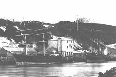 Port Alfred, South Africa - Photo of The Castle on the Hill and Cock's Mill on the River taken before 1876 Castle On The Hill, Port Elizabeth, Amazing Places, Sailing Ships, South Africa, The Good Place, Past, Cities, Cottage