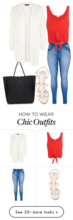 """Untitled #65"" by mastsa on Polyvore featuring City Chic, Splendid, Jaeger, Oscar de la Renta, redwhiteandblue and july4th"