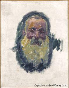 Claude Monet Portrait de l'artiste en 1917 huile sur toile H. 0.705 ; L. 0.55 musée d'Orsay, Paris, France ©photo musée d'Orsay / rmn