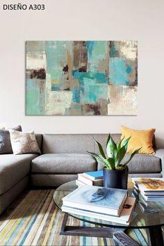 Cuadros Modernos 80x120 Abstractos Tripticos Texturados - $ 2.799,99