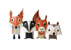 Animaux en Origami 8,95€ Paper Toys Mibo, édités chez Coq en Pâte. De chouettes animaux rigolos à construire soi même. Pack de 5 animaux rigolos en origami