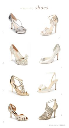 8 of the Best Wedding Shoes for Brides. Gorgeous wedding shoes: bridal heels, designer styles picked by the editor of Dress for the Wedding.