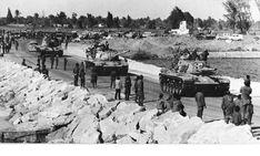 IDF M60A1 crossing the Suez Canal, Yom Kippur War.