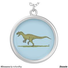 Allosaurus Silver Plated Necklace