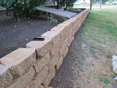 Pavers for a wall on side yard