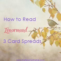 How to Read Lenormand 3 Card Spread - with a sample reading