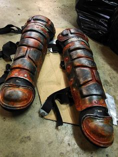 Post Apocalyptic Leg Armor by Roll4Damage on Etsy, $140.00