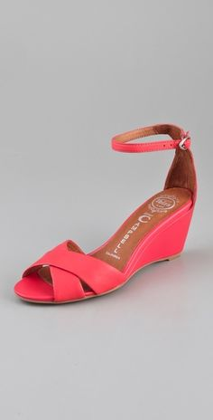 """These Coral Trudeau Wedge Sandals from Jeffrey Campbell are perfect for spring. A 3"""" wedge - the doc should give me clearance for that, no?"""