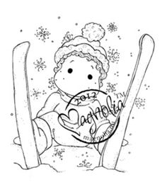 MAGNOLIA-A Christmas Story Collection: Cling Stamp. Quickly and easily add inked images to your holiday paper crafting projects with these adorable stamps. This package contains one 2-1/2x2-3/4 inch c